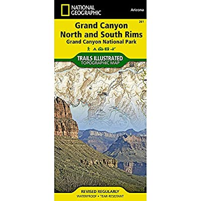 NAT GEO Grand Canyon Nat'l Park Map, '09