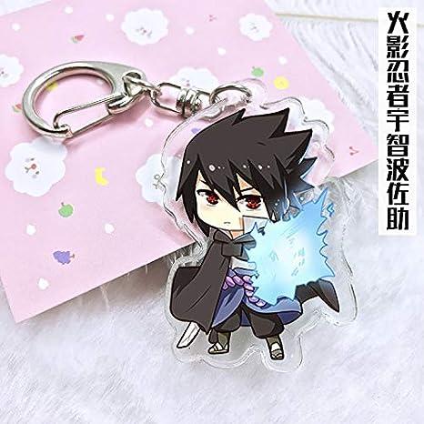 Amazon.com: 1pcs 6cm Anime Keychain Naruto Kakashi Shikamaru ...