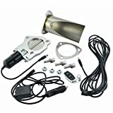 Evilenergy 2.5 Inch Exhaust Cutouts Stainless Steel Cut Pipe Remote Valve Kit