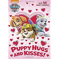 PAW Patrol Valentine's Day coloring book for kids with shiny stickers