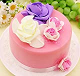 NICE PURCHASE 6 inch Fake Birthday Cake Fake Food Bakery Shop Cake Display Model Party Decoration Faux Replica Cake
