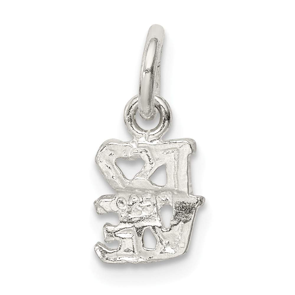 FB Jewels Solid 925 Sterling Silver Rooster Charm