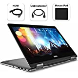 Dell Inspiron 7000 2-in-1 Ryzen 7 12GB RAM 256GB SSD Full HD 13.3 Touch Screen Top Performance 2018 Laptop | 4 Cores Up to 3.8Ghz CPU | DDR4 | AMD Radeon RX Vega 10 | Wifi | Bluetooth | Bonus Combo