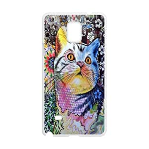 Nuktoe Samsung Galaxy Note 4 Case Cat Face Abstract Pattern KN297727