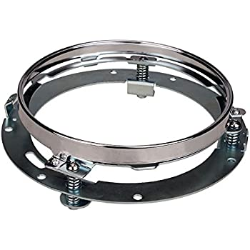 Chrome Wecade 7 Inch Round Headlight Ring Mounting Bracket Headlight Mount