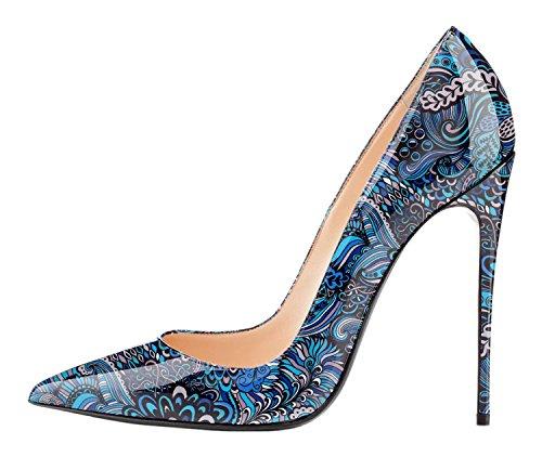 Scarpe blue F Spillo 12cm Donna A Tacco Col Edefs Heels High Da Classico aq6dxwf