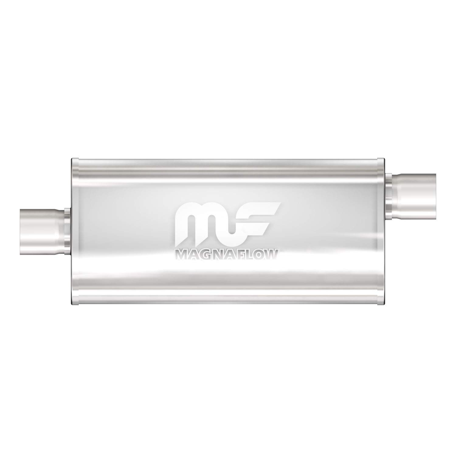 Magnaflow 12255 Satin Stainless Steel 2.25' Oval Muffler MagnaFlow Exhaust Products
