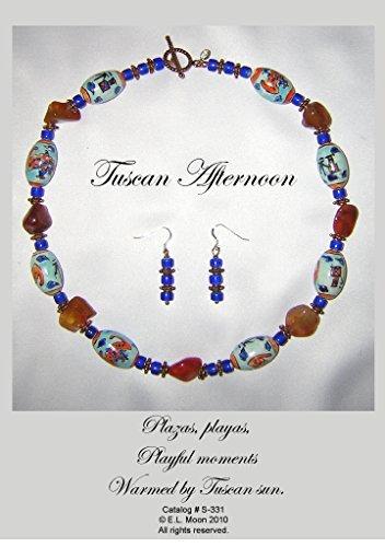 Tuscan Afternoon Carnelian Barrel Beads