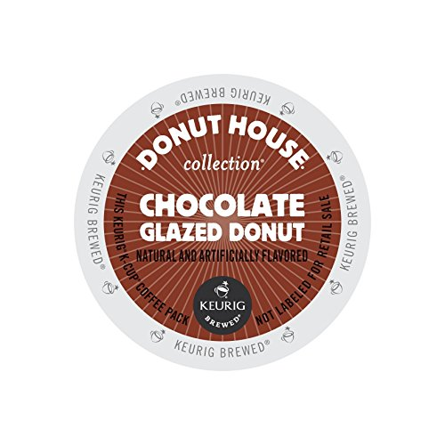(Donut House Chocolate Glazed Donut Coffee 48 K-Cups for Keurig Brewers)