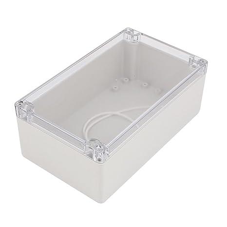 Aexit 200x120x75mm Cubierta de plástico transparente cubierta de ...