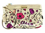 Coach Signature Gallery Scarf Print Medium Wristlet Multicolor