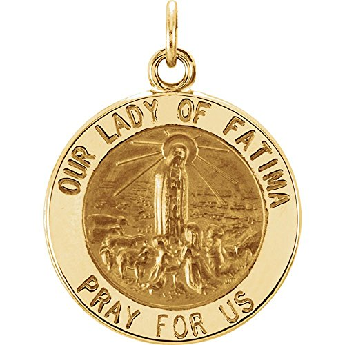 Sterling-silver Rd Our Lady Of Fatima Pend Med