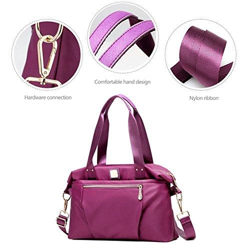 Yoohobo0048 Purple al Yoome Morado Size azul Bolso Mujer Hombro para One Beige d5pgqg