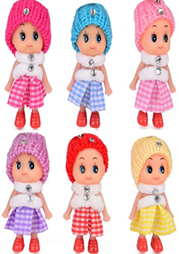 [6 Little Sisters /Cutest Little Toys/ADORABLE MINI DOLLS/Great Gift in 6 Beautiful Colors/ for Children Ages 3+ /Best Addition to Disney Frozen, Barbie, American Girl Kids or Baby Toddler] (Princess Outfit Ideas)