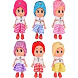 6 Little Sisters /Cutest Little Toys/ADORABLE MINI DOLLS/Great Gift in 6 Beautiful Colors/ for Children Ages 3+ /Best Addition to Disney Frozen, Barbie, American Girl Kids or Baby Toddler Collection