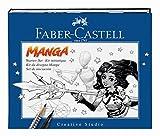 "FABER-CASTELL Kit ""Manga"" PITT Artist débutant 8 pieces Stylo/Crayon/Modèle/Bloc"