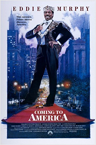 Eddie Murphy movie poster Coming To America comedy New York City reproduction, not an