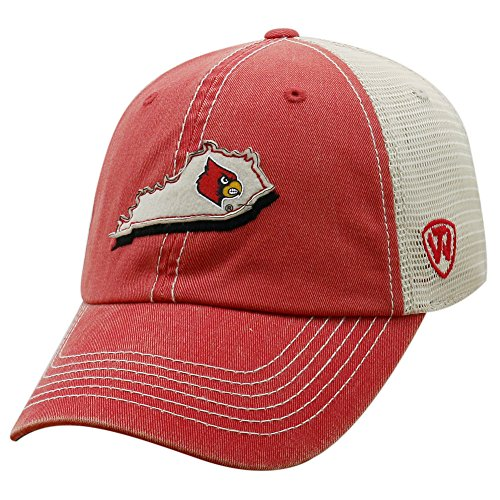 competitive price 1e3a0 5adb5 Top of the World NCAA Louisville Cardinals Men s Elite Fan Shop Off Road  Mesh Back Hat, Red