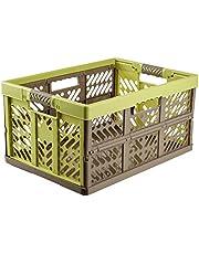 Keeeper Stabiele professionele inklapbare box met soft-touch grepen, 54 x 37 x 28 cm, 45 l, Ben, grafiet grijs