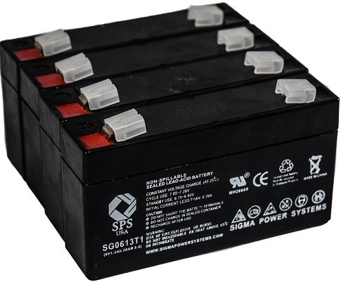 Acme Medical 5000 Scale - SPS Brand 6V 1.3Ah Replacement Battery for Acme Medical 5000 Scale (4 Pack)