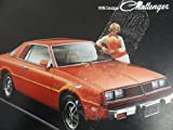 img - for 1978 Dodge Challenger Sales Brochure book / textbook / text book