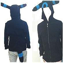 Pokemon umbreon Kigurumi hoody pajamas blue romper cosplay costume