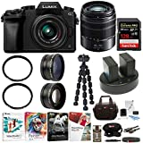 PANASONIC LUMIX G7 4K w/ 14-42mm & 45-150mm Lenses & 128GB Bundle