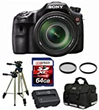 Sony Alpha SLT-A57M with SEL 18-135mm + Battery + Travel Charger + Bag + 64GB + Filter Kit, Best Gadgets