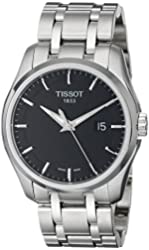 Tissot Men's T0354101105100 Couturier Black Dial Stainless Steel Watch