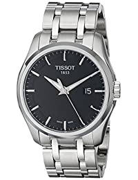 Tissot Men's Couturier Dial Stainless Steel Watch Black T0354101105100