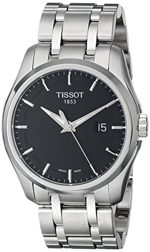 (Tissot Men's T0354101105100 Couturier Black Dial Stainless Steel Watch)