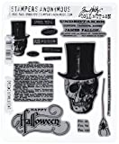 Art Gone Wild Undertaker Cling Stamp Set, Grey by Stampers Anonymous
