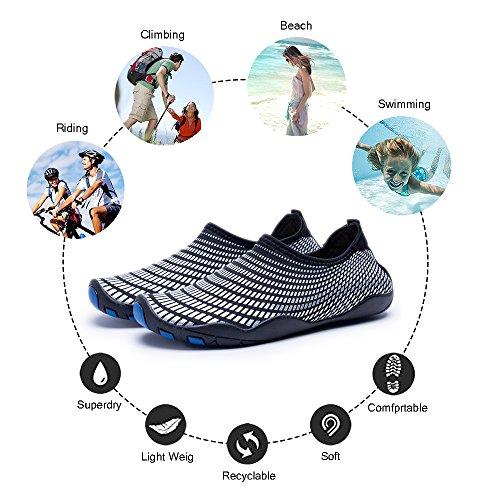 Fmorink Aqua Vatten Skor Hållbara Enda Snabbtorkande Som Andas För Stranden Simma Surfa Yoga Övning Unisex