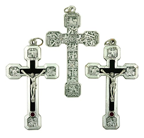 Lot of 3 Black Cross with Silver P Corpus 2 1/2
