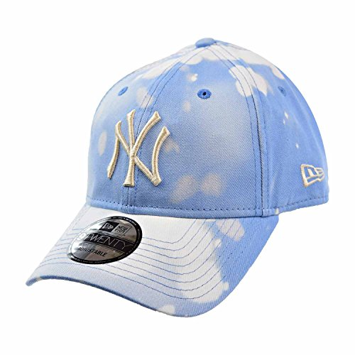 New Era New York Yankees Bleached Out 9Twenty Men's Strapback Hat Cap Blue/White 11520520 (Size os)