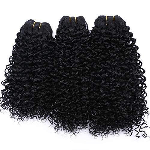 (Synthetic Hair Weave Kinky Curly Hair Bundles 16