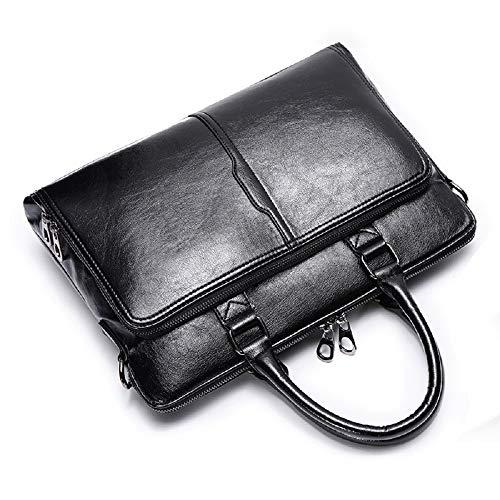 ZHRUI del Inch 1 Paquete los Bag Bolso Shoulder de Negro 13 Messenger Computer Umhaengetasche Negocio del Bolso maletín para Hombres Informal Bolso de Negro Hombres Bag Bolso para Simple Trende rIr0n
