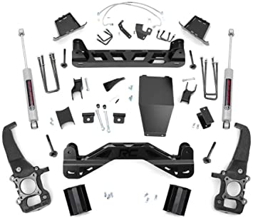 N3 Shocks fits 2004-2008 F150 4WD 54620 Rough Country 6 Lift Kit Knuckle Crossmember Suspension System