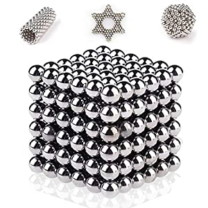 Bribass 5MM 216PCS Magnets Sculpture Building Blocks Toys for Intelligence Development and Stress Relief (Sliver)