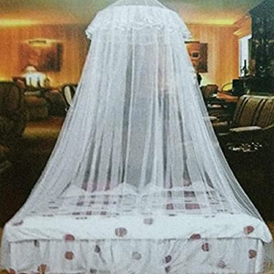 Bluelans Round Lace Curtain Dome Bed Canopy Netting Princess Mosquito Net