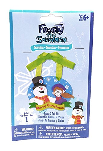 Frost Snowman - Christmas Decorations Frost the Snowman Foam and Felt Kit - Frosty and Girl - 4.25 x 3.25 inches