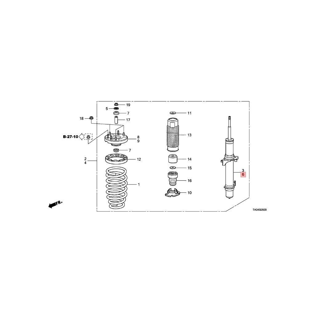 Amazon.com: Genuine Honda 51621-TA0-A12 Shock Absorber Unit, Left, Front:  Automotive