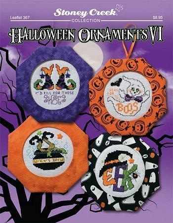Halloween Ornaments VI (Leaflet 367) Cross Stitch Chart and Free Embellishment