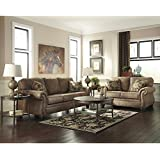 Flash Furniture Signature Design by Ashley Larkinhurst Living Room Set in Earth Faux Leather