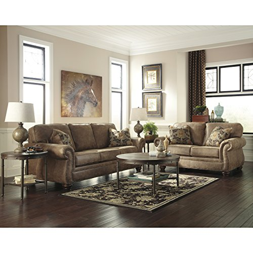 Leather Set Sofa Signature - Signature Design by Ashley Larkinhurst Living Room Set in Earth Faux Leather