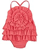 Mud Pie Baby Girl's Ruffle Swimsuit (Infant) Pink Swimsuit