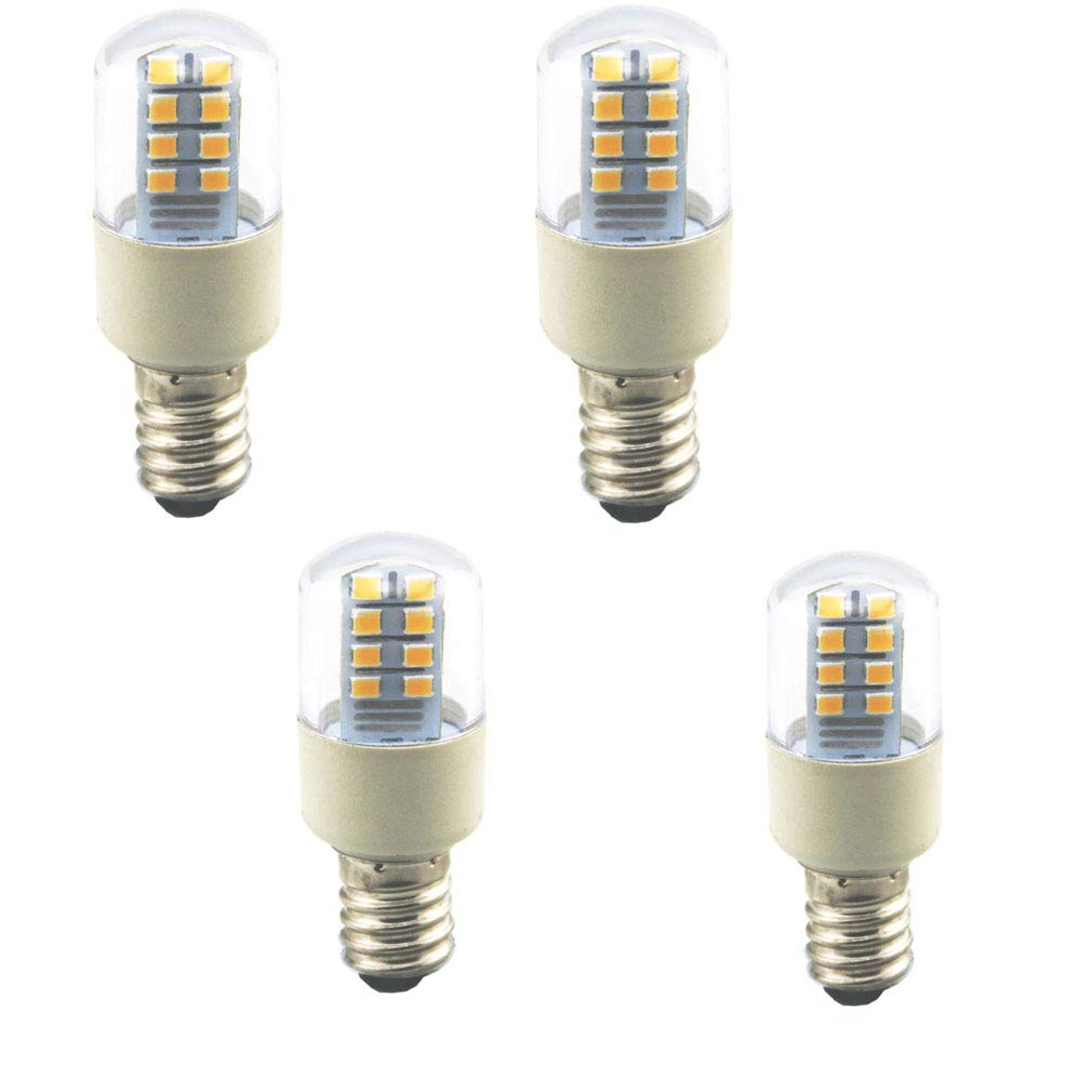 Lxcom E12 LED Bulb 1 Watt Warm White 3000K 10W Equivalent Candelabra Base Non-Dimmable AC110V for Ceiling Fan Refrigerator Hood, 4 Pack