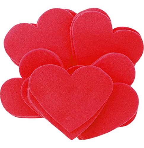 Playfully Ever After 3 Inch Red 28pc Felt Hearts