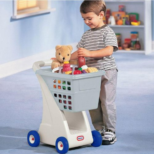 An Image of Little Tikes Shopping Cart Grey