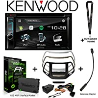 Kenwood Excelon DDX395 6.2 DVD Receiver iDatalink KIT-CHK1 Dashkit for Jeep cherokee, BAA23 Antenna Adapter, and ADS-MRR Interface Module and a SOTS Lanyard